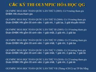 C � C K? THI OLYMPIC H�A H?C QG