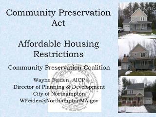 Community Preservation Act Affordable Housing Restrictions
