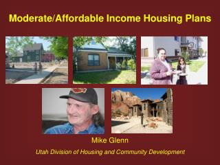 Moderate/Affordable Income Housing Plans