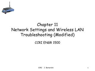 Chapter 11 Network Settings and Wireless LAN Troubleshooting Modified
