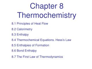 Chapter 8 Thermochemistry
