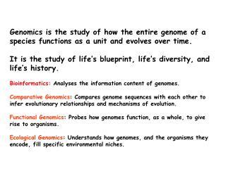 What Is Genomics?