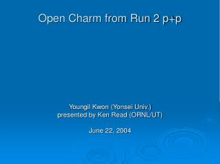 Open Charm from Run 2 p+p