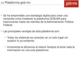 :::  Plataforma gob.mx