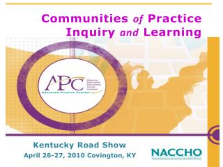Communities  of  Practice Inquiry  and Learning