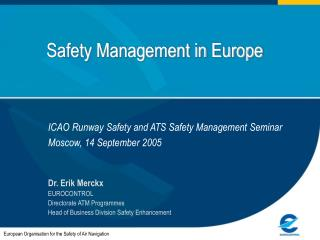 Safety Management in Europe