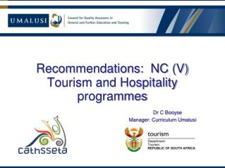 Tourism – intended curriculum
