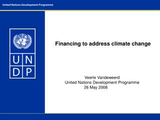 Financing to address climate change