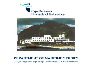 DEPARTMENT OF MARITIME STUDIES