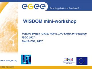 WISDOM mini-workshop