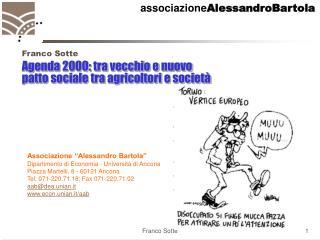 Agenda 2000: tra vecchio e nuovo patto sociale tra agricoltori e società