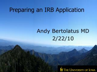 Andy Bertolatus MD 2/22/10