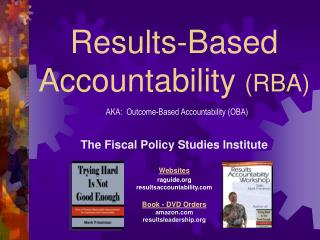 Results-Based Accountability  (RBA)
