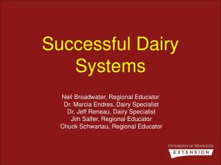 Successful Dairy Systems