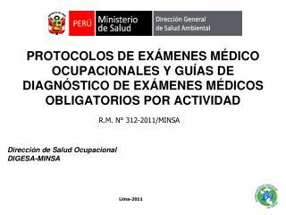 Dirección de Salud Ocupacional DIGESA-MINSA