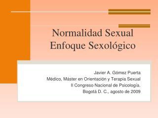 Normalidad Sexual Enfoque Sexológico