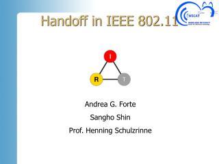 Handoff in IEEE 802.11