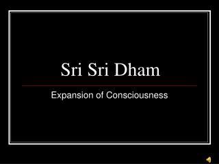 Sri Sri Dham