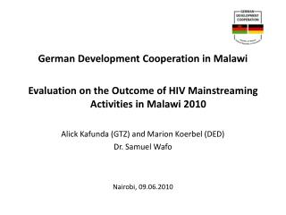 German Development Cooperation in Malawi