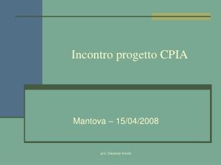 Incontro progetto CPIA