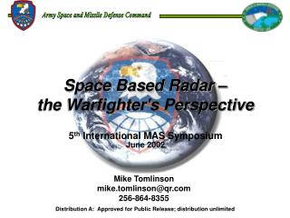 Space Based Radar    the Warfighters Perspective