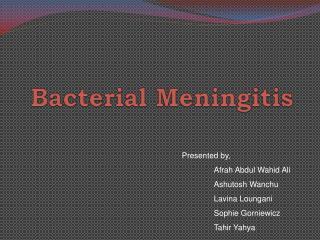 Bacterial Meningitis