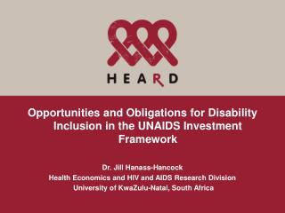 Opportunities and Obligations for Disability Inclusion in the UNAIDS Investment Framework