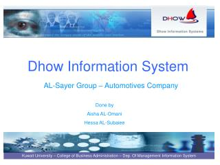 Dhow Information System
