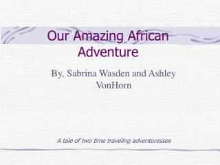 Our Amazing African Adventure