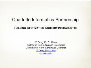 Yi Deng, Ph.D., Dean College of Computing and Informatics