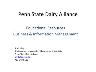 Penn State Dairy Alliance