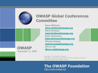 OWASP Global Conferences Committee