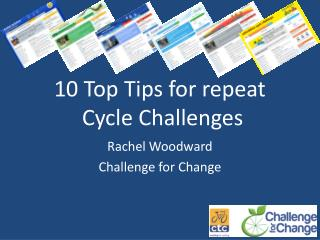 10 Top Tips for repeat  Cycle Challenges
