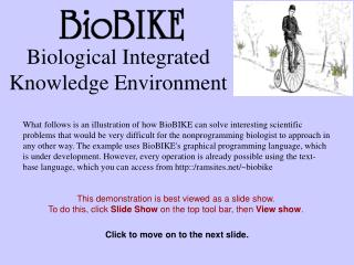 Biological Integrated Knowledge Environment