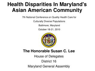 Health Disparities In Maryland's  Asian American Community