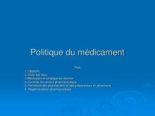 Politique du médicament