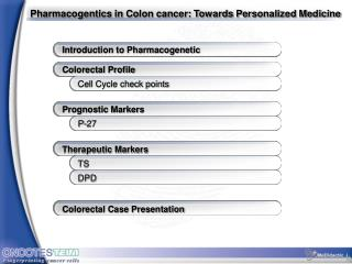 Pharmacogentics in Colon cancer: Towards Personalized Medicine