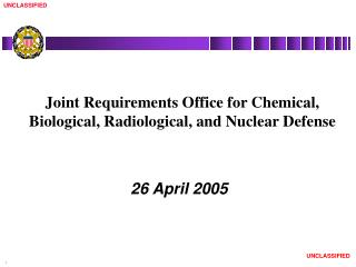 Joint Requirements Office for Chemical, Biological, Radiological, and Nuclear Defense
