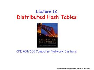 Lecture 12 Distributed Hash Tables