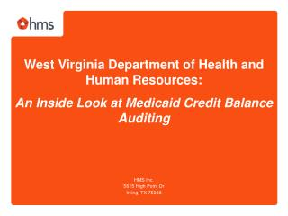 West Virginia Department of Health and Human Resources: