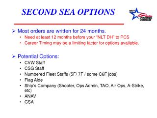 SECOND SEA OPTIONS