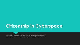 Citizenship in Cyberspace