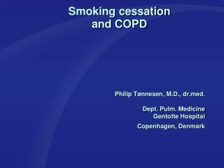 Smoking cessation  and COPD