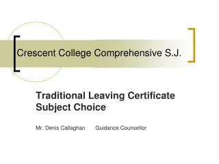 Crescent College Comprehensive S.J.