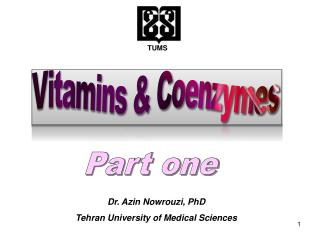 Vitamins & Coenzymes
