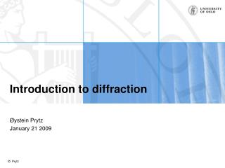 Introduction to diffraction