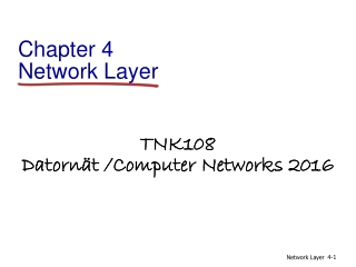 Chapter 4   The Network Layer  Routing