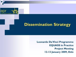 Dissemination Strategy