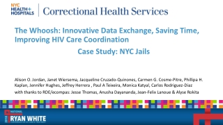 HRSA Initiative on Enhancing Linkages to HIV Primary Care in Jail Settings