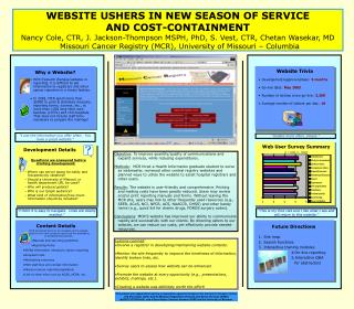 WEBSITE USHERS IN NEW SEASON OF SERVICE  AND COST-CONTAINMENT